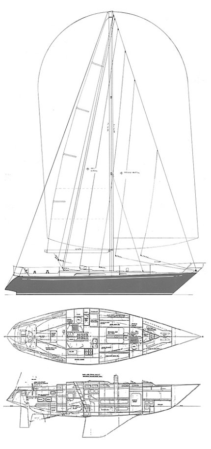 Impala 41 drawing on sailboatdata.com