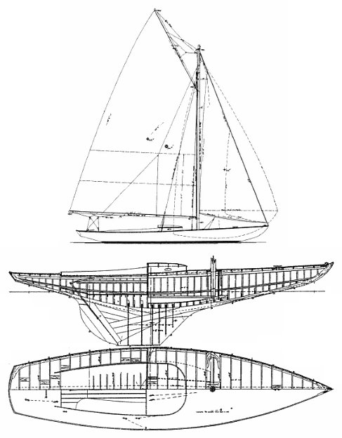 INDIAN HARBOR Y.C. ONE-DESIGN drawing