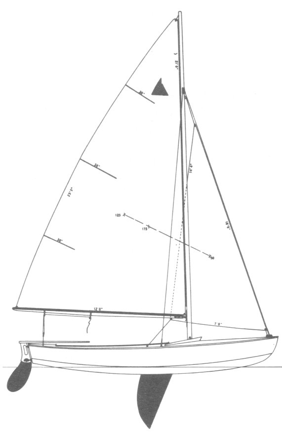 Interlake Drawing on sailboatdata.com