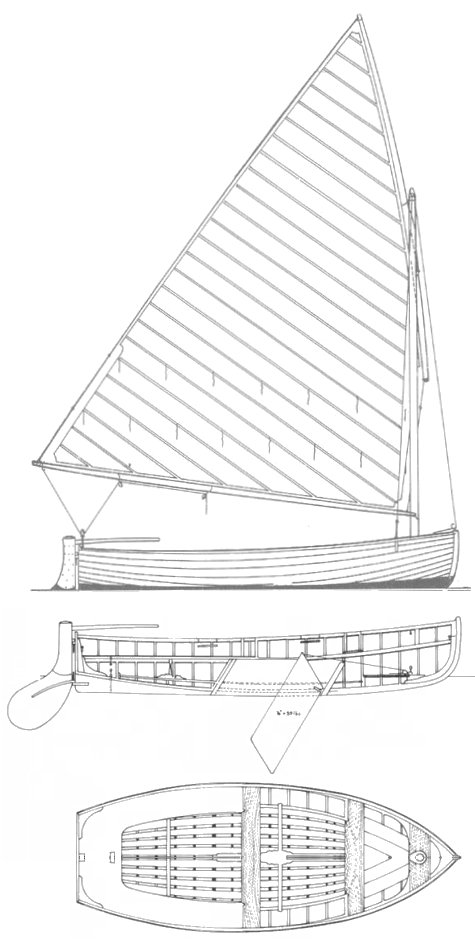 International 12 Foot Dinghy drawing on sailboatdata.com