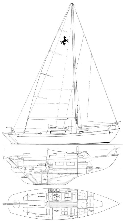 Invicta 26 drawing on sailboatdata.com