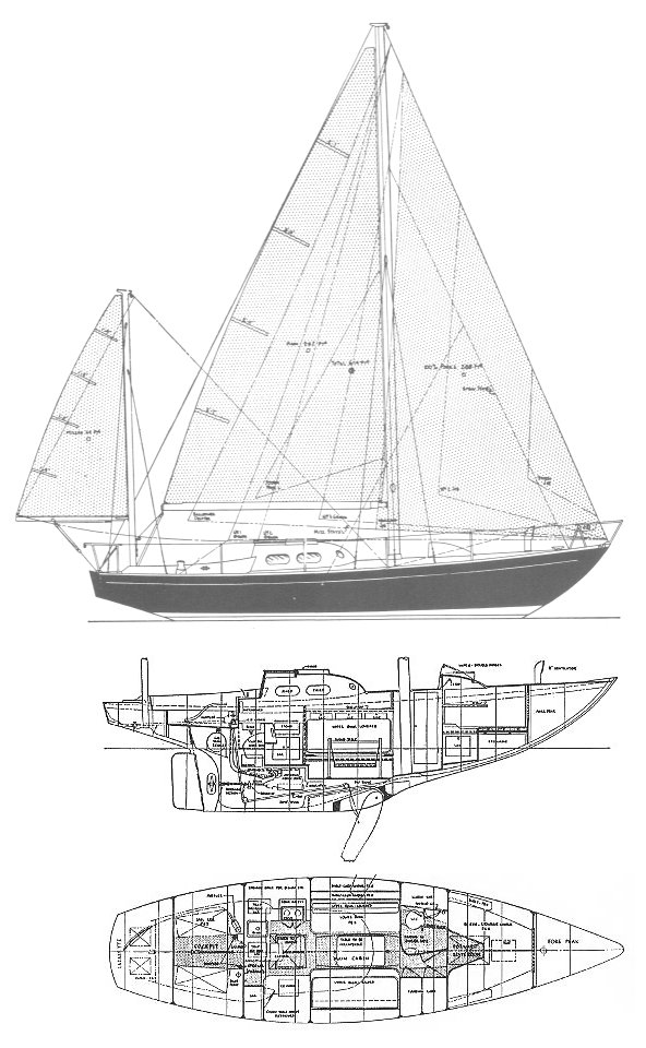 Invicta Mk1 drawing on sailboatdata.com
