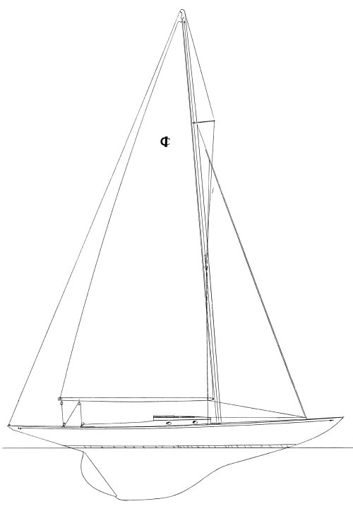 International One Design drawing on sailboatdata.com