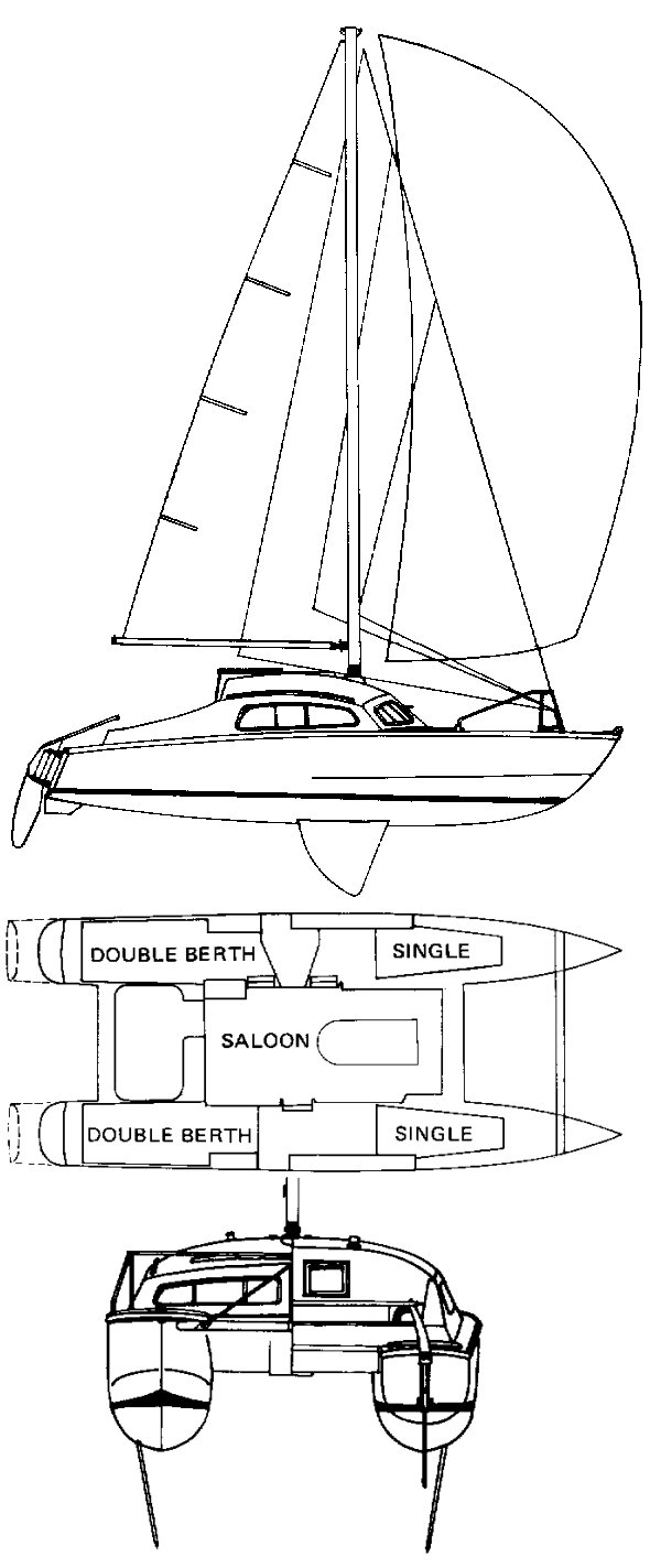 Iroquois 30 drawing on sailboatdata.com