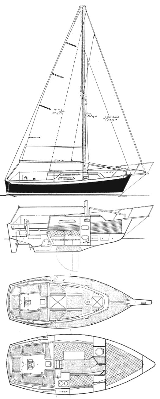 Irwin 10-4 drawing on sailboatdata.com