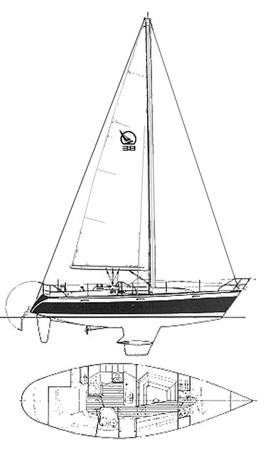 IRWIN 38 CITATION drawing