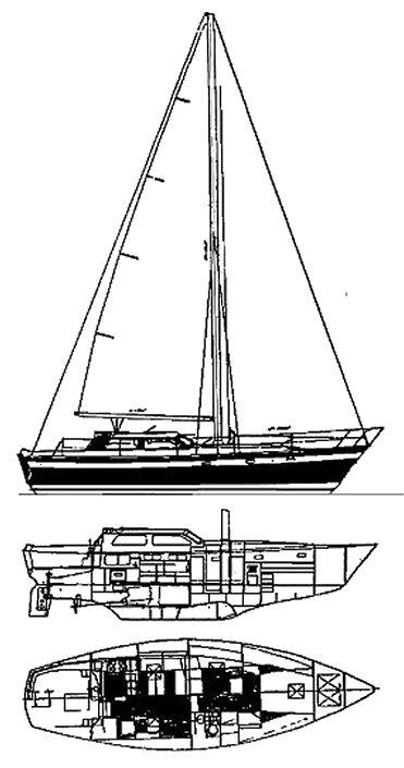 IRWIN AVANTI 42 drawing
