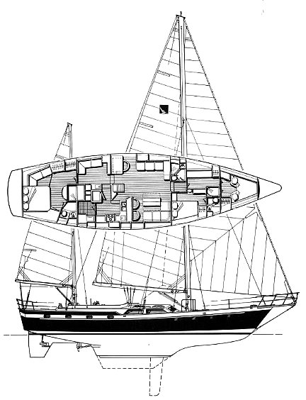 Irwin 65 drawing on sailboatdata.com
