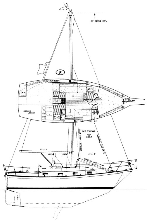 ISLAND PACKET 29 drawing