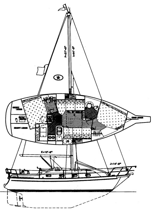 ISLAND PACKET 320 drawing
