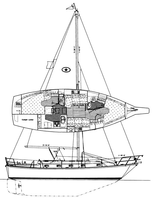 ISLAND PACKET 37 drawing