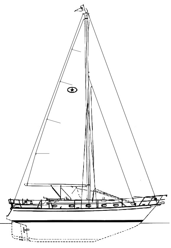 ISLAND PACKET 380 drawing