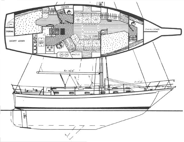ISLAND PACKET 38 drawing