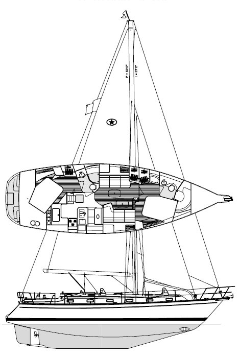 ISLAND PACKET 440 drawing