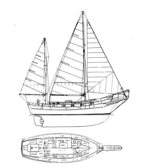 ISLAND TRADER 38 drawing