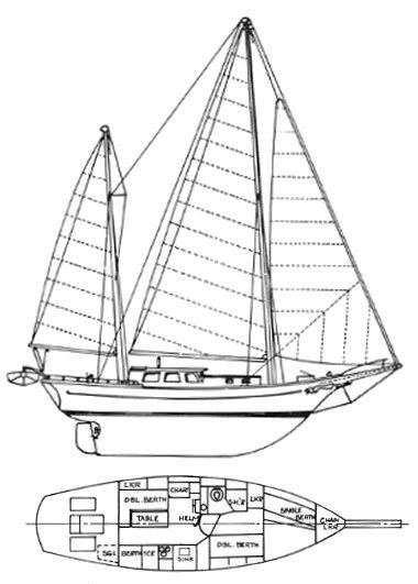 ISLAND TRADER 41 drawing
