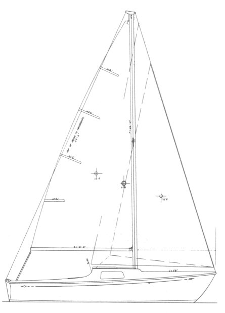 Islander 21 drawing on sailboatdata.com