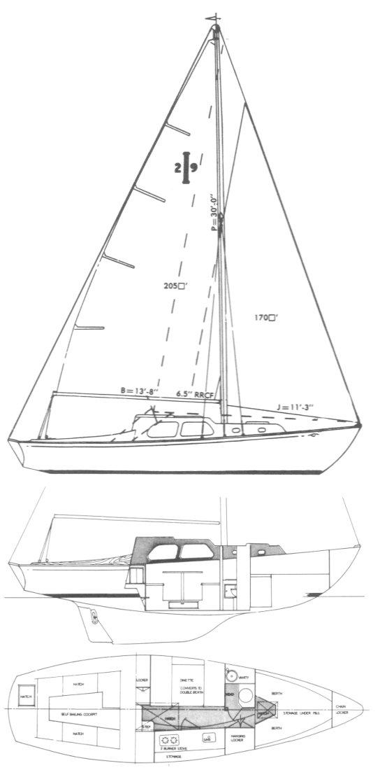 ISLANDER 29 drawing