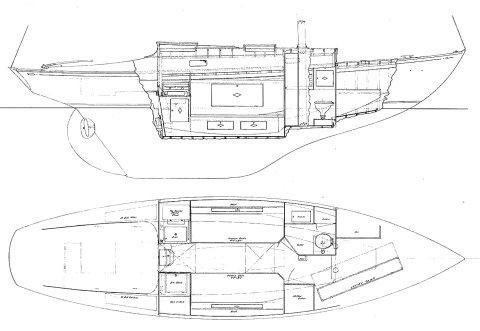 ISLANDER 30 (HINCKLEY-1940) drawing