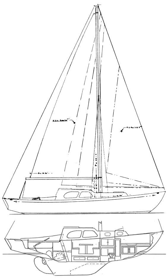 ISLANDER 32 drawing