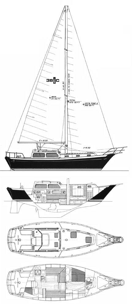 ISLANDER 38 C drawing