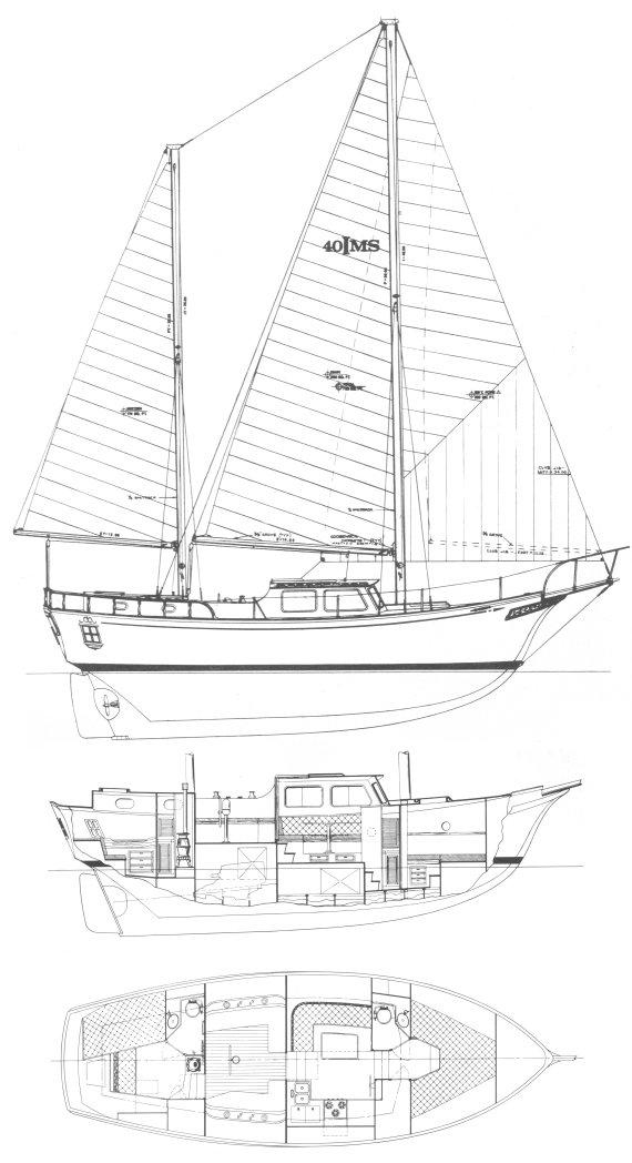 ISLANDER 40 MS drawing