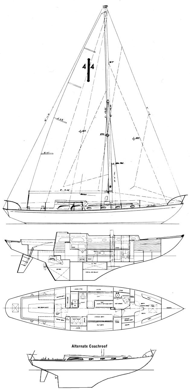 ISLANDER 44 drawing