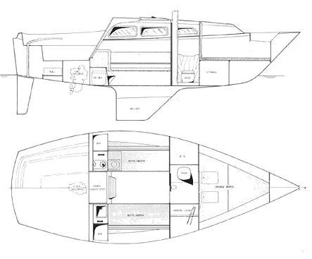 BAHAMA 26 (ISLANDER) drawing