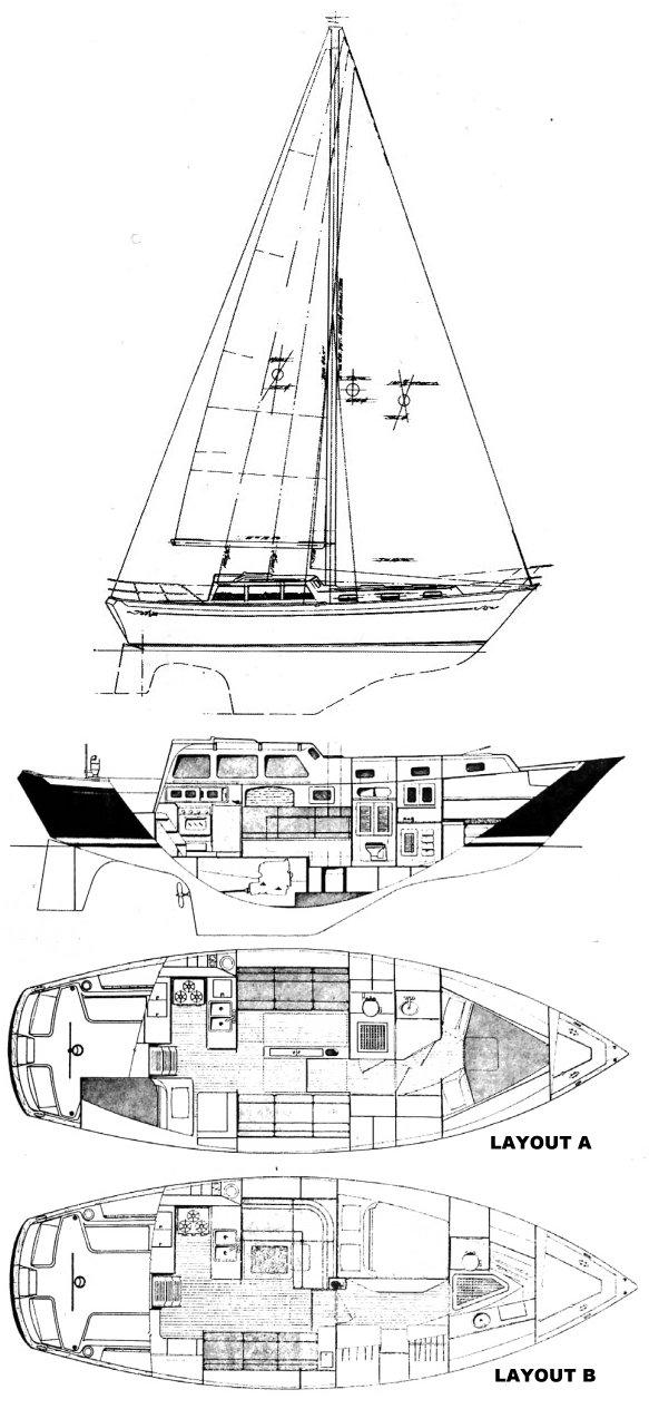 FREEPORT 36 (ISLANDER) drawing