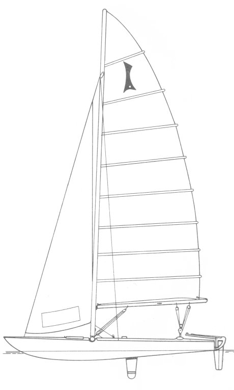 Isotope Catamaran drawing on sailboatdata.com