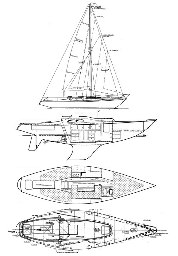 IW-31 drawing on sailboatdata.com