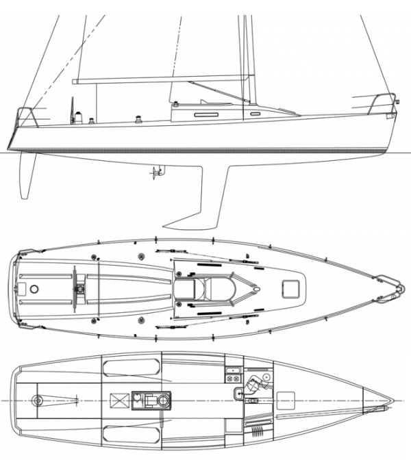 J/125 drawing on sailboatdata.com