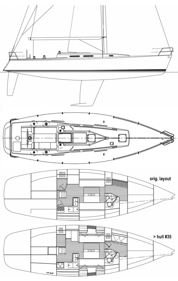 J/130 drawing on sailboatdata.com