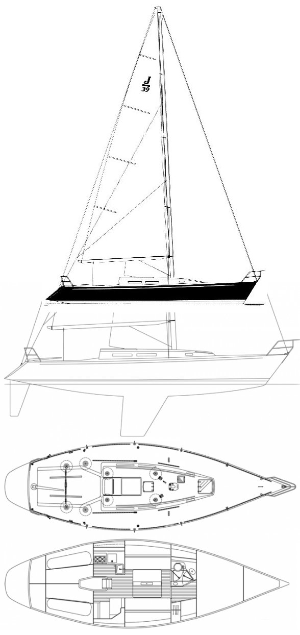 J/39 drawing on sailboatdata.com