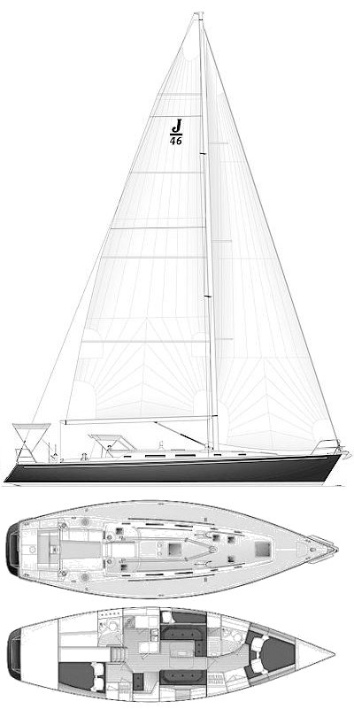 J-46 drawing on sailboatdata.com