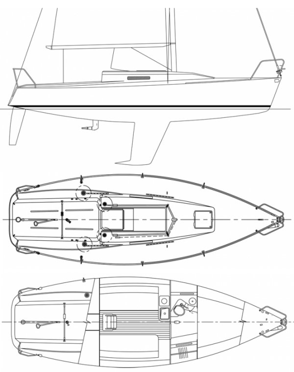 J/92 drawing on sailboatdata.com