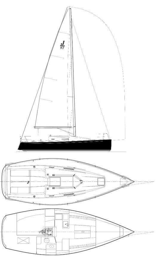 J-97 drawing on sailboatdata.com
