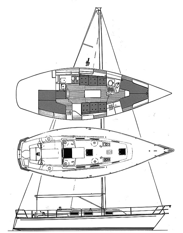 J/37 drawing on sailboatdata.com