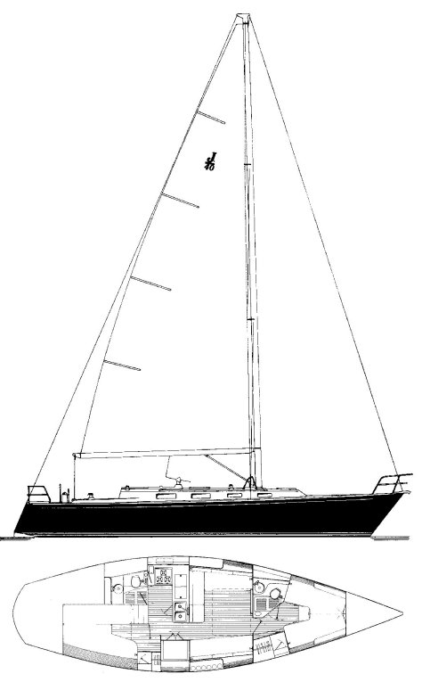 J-40 drawing on sailboatdata.com