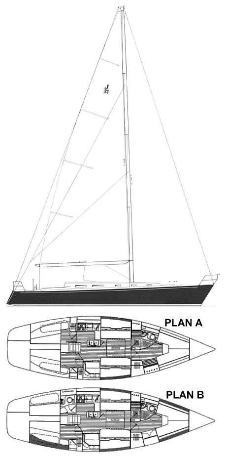 J/44 drawing on sailboatdata.com