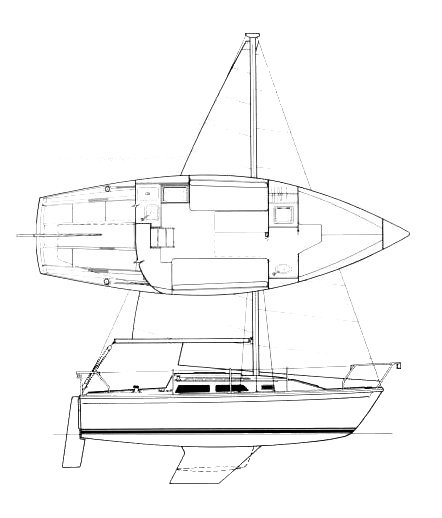 Jaguar 25 drawing on sailboatdata.com