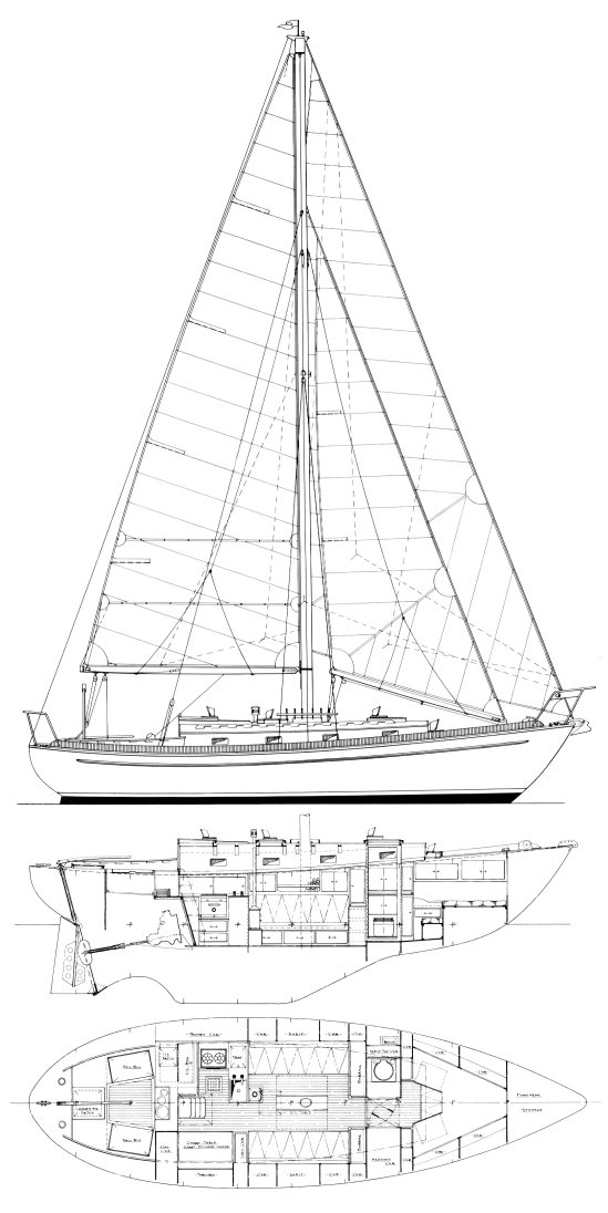 Jason 35 drawing on sailboatdata.com