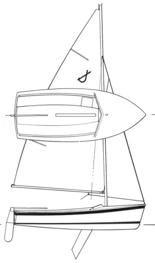 O'Day Javelin drawing on sailboatdata.com