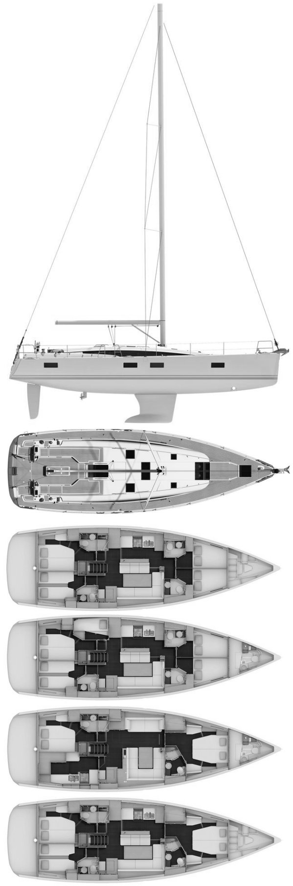 JEANNEAU 54 drawing