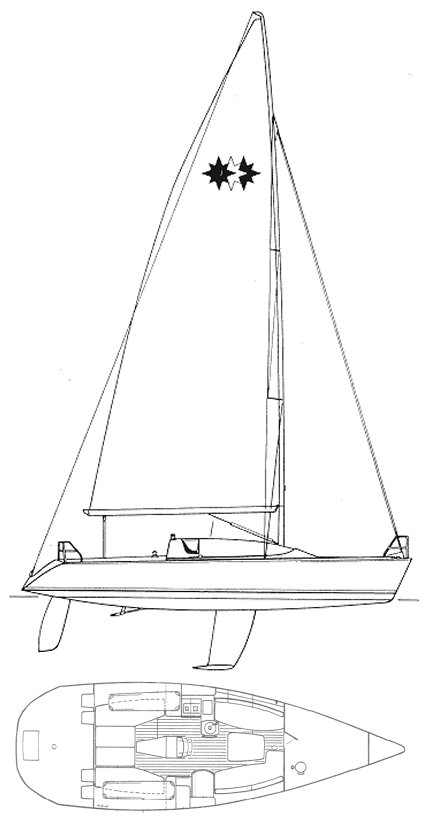 Jeanneau One Design 35 drawing on sailboatdata.com