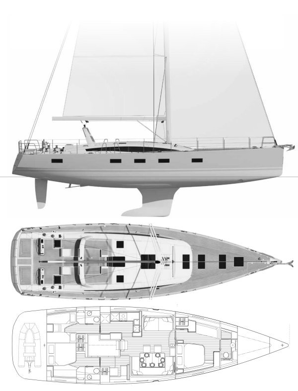 SailboatData com - JEANNEAU 64 Sailboat