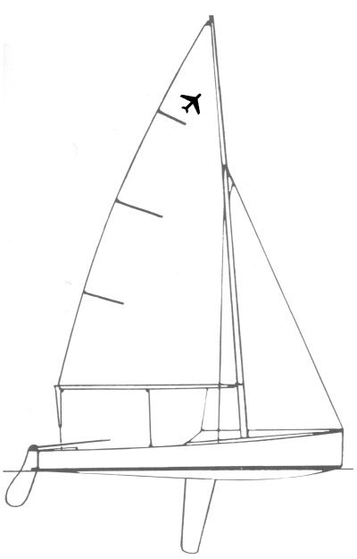 Jet 14 drawing on sailboatdata.com