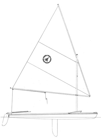 Jetwind 14 (Sears) drawing on sailboatdata.com