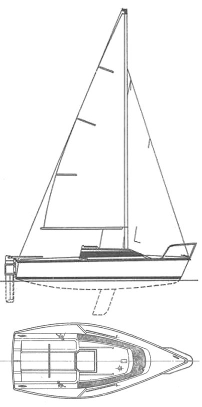 Jouet 550 drawing on sailboatdata.com