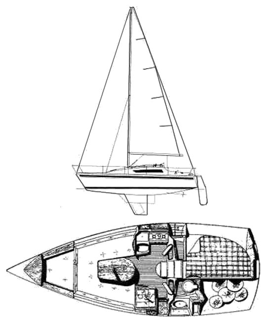 Jouet 760 drawing on sailboatdata.com